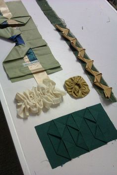Unit Twelve fabric manipulation workshop by ruthsinger, via Flickr