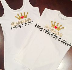 Mother and Son shirt. Queen and Prince.Mother Son matching outfit. Mother Son best friend shirts. 2 tops sold only