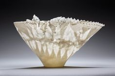 unikat gegossenes hochtransluzentes Porzellan mit Materialmixlitophanien