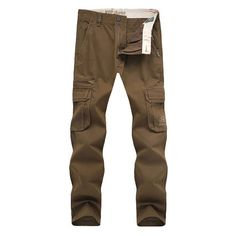 Mens Spring Summer Thin Cargo Pants Big Pockets Solid Color Loose Fit... (47 CAD) ❤ liked on Polyvore featuring men's fashion, men's clothing, men's pants, men's casual pants, mens khaki cargo pants, mens loose fit pants, mens olive pants, mens loose fit cargo pants and mens 5 pocket pants