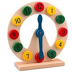Go to http://prenatal-baby-toddler-preschool-store.co.uk/huntgold-1x-baby-educational-toys-fancy-toys-wooden-clock-time-teaching-toys  to review HuntGold 1X Baby Educational Toys Fancy Toys Wooden Clock Time Teaching Toys from HuntGold