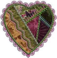 Image result for crazy quilt hand embroidery designs