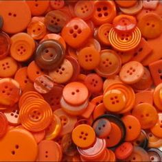 Orange Poppy Cottage •~• buttons