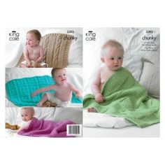 King Cole 3393 Baby Blankets in Comfort Chunky (leaflet)
