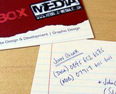 Redbox Media Business Cards by John Oliver (via Creattica)