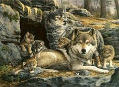 First Spring Wolves Jigsaw Puzzle