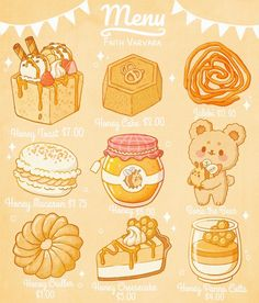 Cute Food Drawings, Cute Animal Drawings Kawaii, Kawaii Art, Cute Food Art, Cute Art, Kawaii Stickers, Cute Stickers, Cartoon Wallpaper, Kawaii Wallpaper
