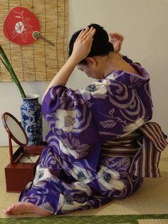 夏 紫に芙蓉銘仙2