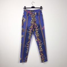 90s Versace vintage high waist pants, Versace Circus series di Toomuchmarion su Etsy