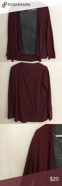 Maroon cardigan Cute cardigan, simple cotton/t shirt material. Old Navy Sweaters Cardigans