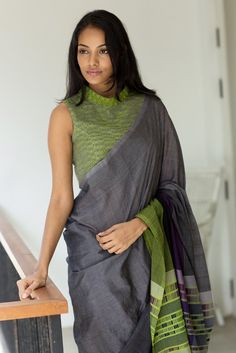 Get the ultimate guide on how to create your own designer saree blouses, with all the tops you have in your closet. Get the latest on saree drapes and new styles. All images belong to their respective owners, contact us for a credit saree Cotton Saree Blouse, Saree Blouse Patterns, Sari Blouse Designs, Saree Dress, Simple Sarees, Trendy Sarees, Stylish Sarees, Casual Saree, Elegant Saree