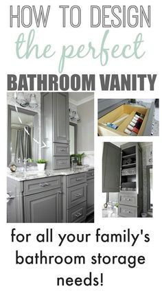 How to get the most out of your new custom bathroom cabinetry and make sure it really works for your family!