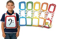 DRY-ERASE CLASSROOM TUNICS-Our Music-Go-Rounds stick to these wearable plastic…