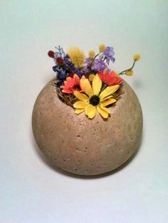 Hypertufa Planter Concrete Planter Concrete by DeerwoodCreekGifts, $30.00