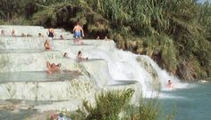 The hot springs near Saturnia in Southern Tuscany. 09/99