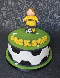 Football/Soccer Cake  Cake by pambakescakes