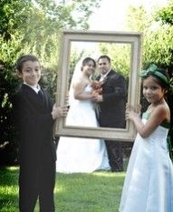 Cute idea for a blended family photo!