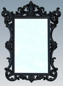 Black glam mirror!  http://www.wellappointedhouse.com/Products/147143-black-carved-wooden-mirror.aspx