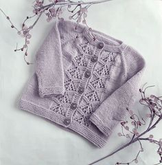Baby girl knitted 3 months sweater, Australian wool lilac baby cardigan, hand knit sweater with lace, 3 months handknit, baby shower gift Hand Knitted Sweaters, Baby Sweaters, Dog Sweater Pattern, Baby Cardigan, Yarn Colors, Digital Pattern, Baby Knitting, Baby Shower Gifts, Crochet Patterns