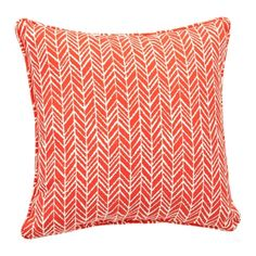 A traditional pattern gets a bold pop of color in this Orange Herringbone Pillow. You'll love this lively take on a classic print mixed in your space. Outdoor Cushions And Pillows, Throw Pillows, Mixing Prints, Herringbone, Color Pop, Pattern, Patio, Outdoor Furniture, Orange