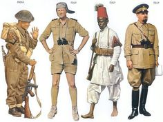 WW2 - India - 1944 Aug., Italy, Lance-Corporal, Royal Gurkha Rifles Italy - 1940 Aug., Sidi Azeis, Lieutenant, Infantry Division Italy - 1940 June, Ethiopia, Corporal, VI Eritrea Battalion Italy - 1940 May, North Africa, Air Marshal, Italian AF