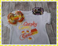 Hey, I found this really awesome Etsy listing at http://www.etsy.com/listing/160612691/candy-corn-cutie-embroidered-shirt-with