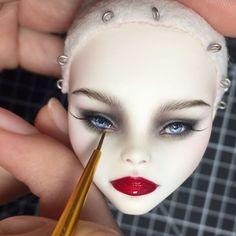 #inprogress #monsterhighooak #monsterhigh #ooakdoll #dollmakeup #olgakamenetskaya #cupid #customdoll #repaintdoll