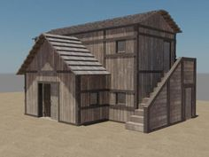 Wooden House 3d model free