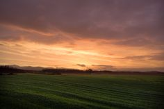 Sunset 8-4-16 - sunset over wheat fields in tuscany