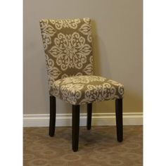 upholstered parsons chair. The Itaki cha...