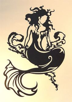Tattoo mermaid silhouette clip art new Ideas Mermaid Wall Art, Mermaid Room, Silhouette Clip Art, Mermaid Silhouette, Silhouette Cutter, Silhouette Portrait, Fantasy Mermaids, Mermaid Tattoos, Cameo
