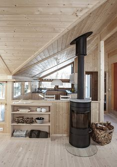 Beach cottages – Coastal Beach Home Decor Wooden House, Cabin Plans, Cabin Homes, Beach Cottages, Beach House Decor, Interior Design Kitchen, House Styles, Houses, Scandinavian Cabin