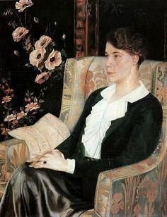 Portrait of the Artist's Sister, 1915, by Filonov, Pavel (1883-1941)