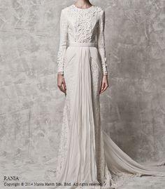 rania by nurita harith - white wedding dress