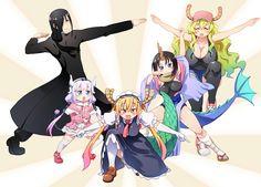 Miss Kobayashi's Dragon Maid:  Kanna Kamui, QuetzalCoatl, Tohru, Elma, Fafnir,