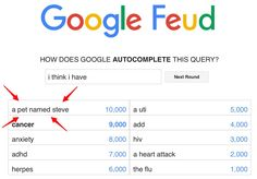 This is because of Markiplier! His Google feud #2, I think.
