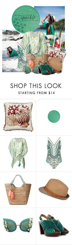 """""""Good vibes"""" by serenair ❤ liked on Polyvore featuring Corona Decor, MAC Cosmetics, Matthew Williamson, River Island, Lilly Pulitzer, Dolce&Gabbana and WALL"""