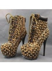 Popular Stiletto Heel Ankle Boot With Rivet -  http://bit.ly/1yWXe1o