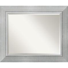The Romano Mirror by Amanti Art adds a decorative touch to your bathroom. Sized to fit above a standard bathroom sink, this handmade beveled mirror with solid wood frame is an excellent choice for your contemporary bathroom decor. Large Framed Mirrors, Silver Wall Mirror, Rustic Wall Mirrors, Contemporary Wall Mirrors, Wood Framed Mirror, Round Wall Mirror, Beveled Mirror, Mirror Collage, Mirror Set
