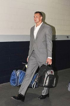 Gronk in the pinstripes #RoadTripStyles