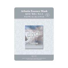 Korea Arbutin Essence Facial Mask Sheet Whitening Pack Massage Masque 15 pcs