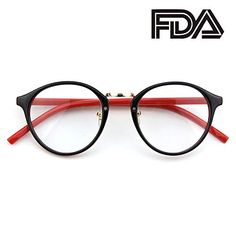 bbef74ace786d Happy Store CN65 Vintage Inspired Metal Bridge Round UV400 Clear Lens  Glasses for Men and Women