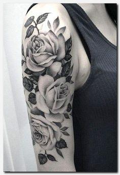cross tattoo outlines, really cool tattoo ideas, rose tattoo… – tattoos for women half sleeve Arm Sleeve Tattoos For Women, Rose Tattoos For Women, Full Sleeve Tattoos, Tattoo Sleeve Designs, Tattoos For Guys, Half Sleeve Flower Tattoo, Ladies Tattoos, Tattoos Skull, Feather Tattoos