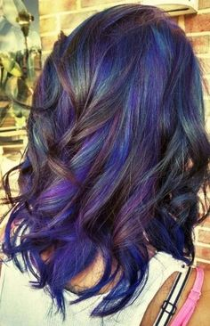 10 Best Examples Of the Oilslick Hair Color Trend underlights hair Hair Color Trend, Peacock Hair Color, Hair Color 2018, Slick Hairstyles, Pretty Hairstyles, Oil Slick Hair Color, Underlights Hair, Perfect Hair Color, Pinterest Hair