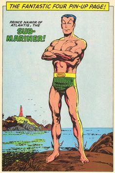Sub-Mariner pin-up by John Byrne.