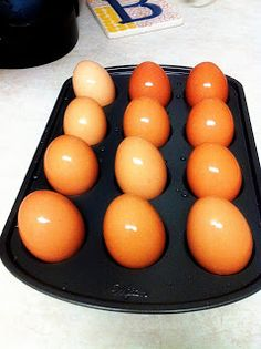 One Domestic Darling...: Hard Boiled Eggs (with out the boil)