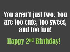 2nd Birthday Wish Play on Words