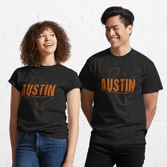 """Austin, Texas Y'all"" T-shirt by EmblemThreads 