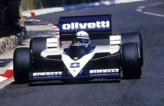 Elio de Angelis, Olivetti Brabham-BMW BT55, 1986 Monaco Grand Prix his very last race in F1, 4 days later he would die in a testing crash in Paul Ricard, his death would however not be in vain, after the horrible incident the FIA transformed & strictened ruling for out-of-race testing, resulting in much safer conditions for drivers