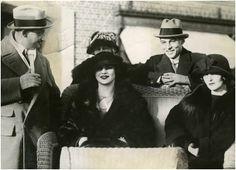 Natacha Rambova, Nita Naldi and Rudolph Valentino, 1924.